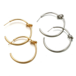 In A Perfect World Classic knotted hoop earring
