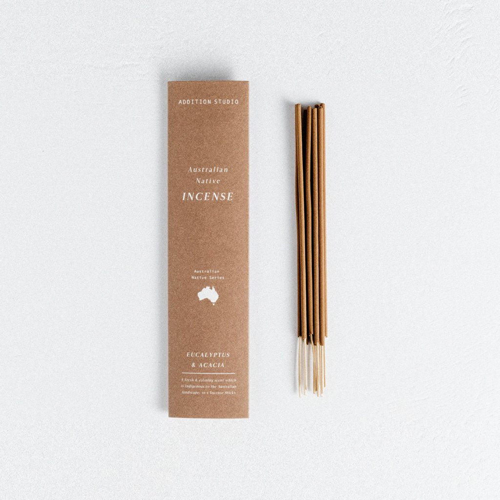 In A Perfect World I. A. P. W. Addition Studio Ritual Lifestyle Wellness Australian Native Eucalyptus Acacia Incense Pack Small