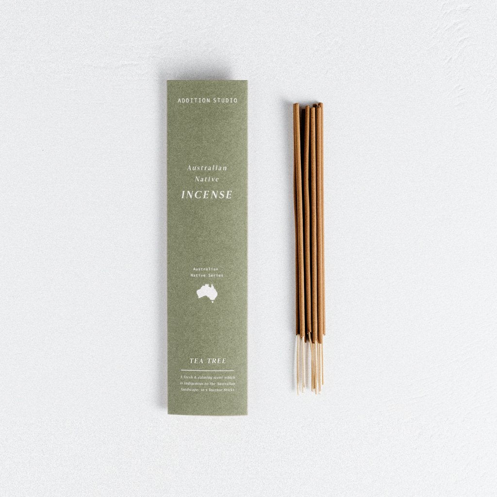 In A Perfect World I. A. P. W. Addition Studio Ritual Lifestyle Wellness Australian Native Tea Tree Incense Pack Small