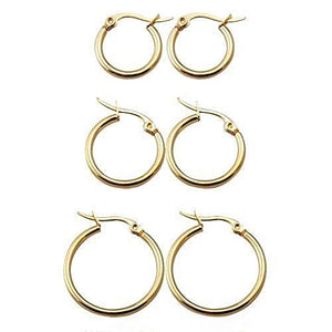 In A Perfect World IAPW hoops earring huggies set