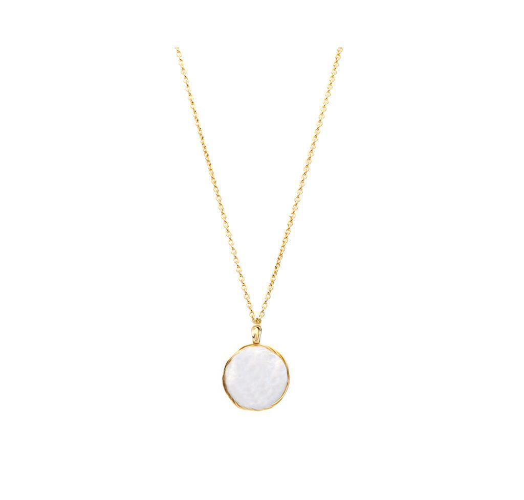 In A Perfect World IAPW circle fresh water pearl necklace