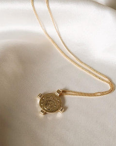 In A Perfect World IAPW Aurora jewelry vintage coin pendant gold necklace