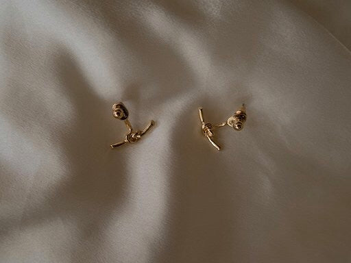 In A Perfect World IAPW earring gold classic detachable stud