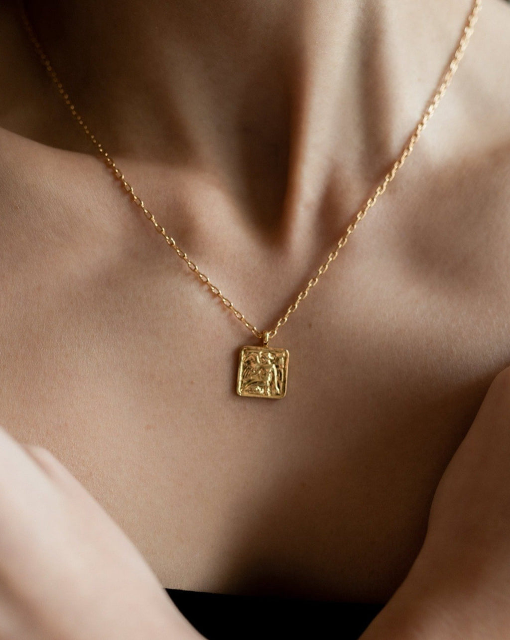 In A Perfect World Square medallion necklace