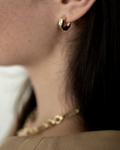 In A Perfect World 18k gold plated mini bamboo hoop