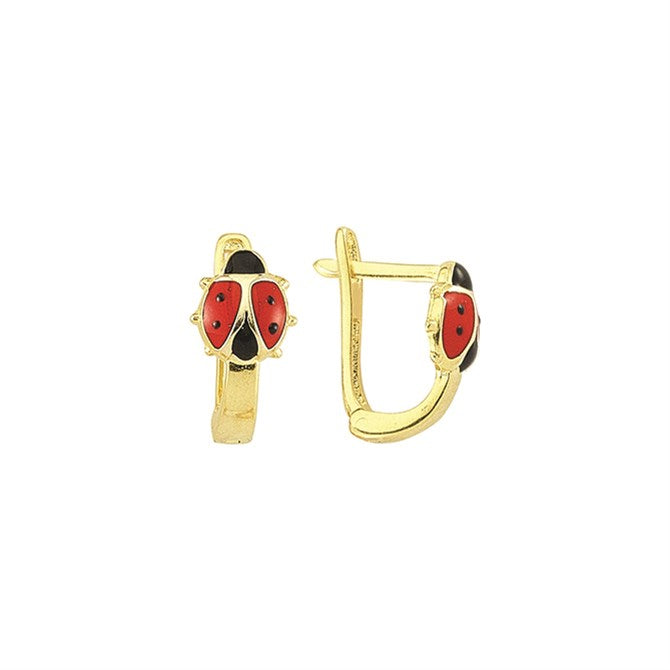 ENAMEL LADYBUG EARRINGS