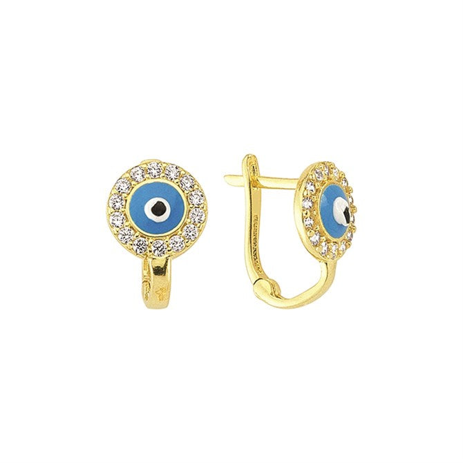 CZ NAZAR EYE EARRINGS