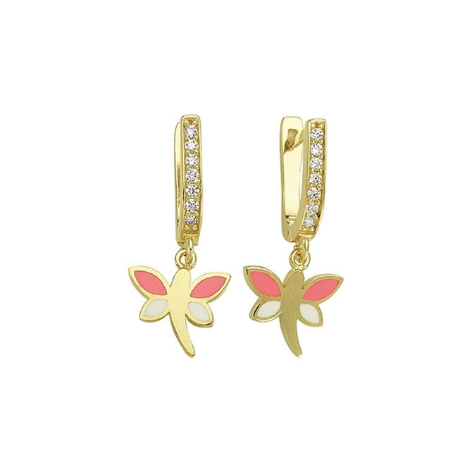 DRAGONFLY PAVE CZ EARRINGS