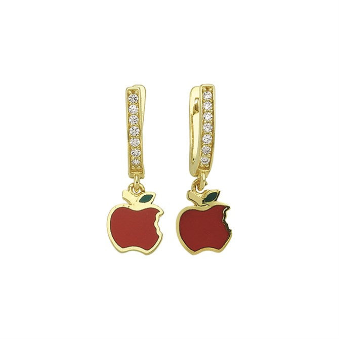 APPLE PAVE CZ EARRINGS