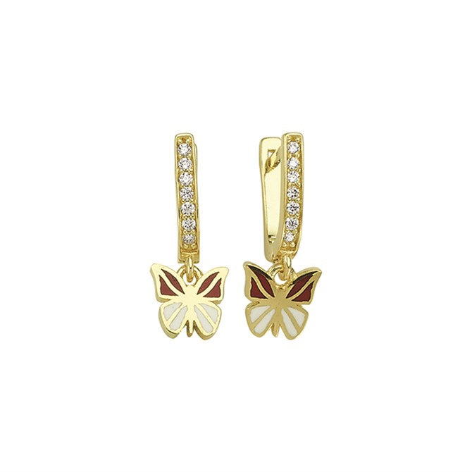 BUTTERFLY PAVE EARRINGS