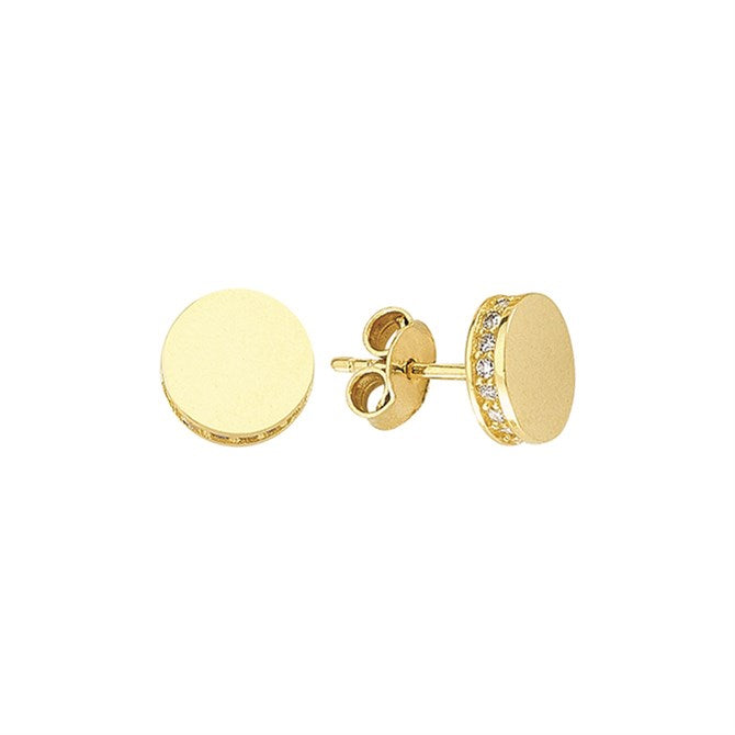 ROUND SOLID PAVE CZ STUDS