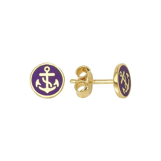 NAVY ANCHOR STUDS