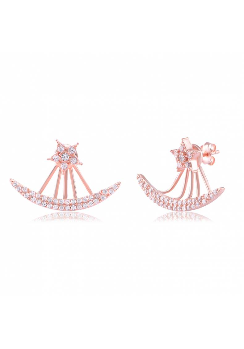 DOUBLE ROW AND STAR EARRINGS