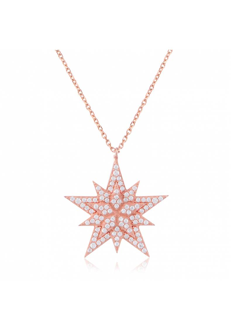 STONE STAR STERLING SILVER NECKLACE