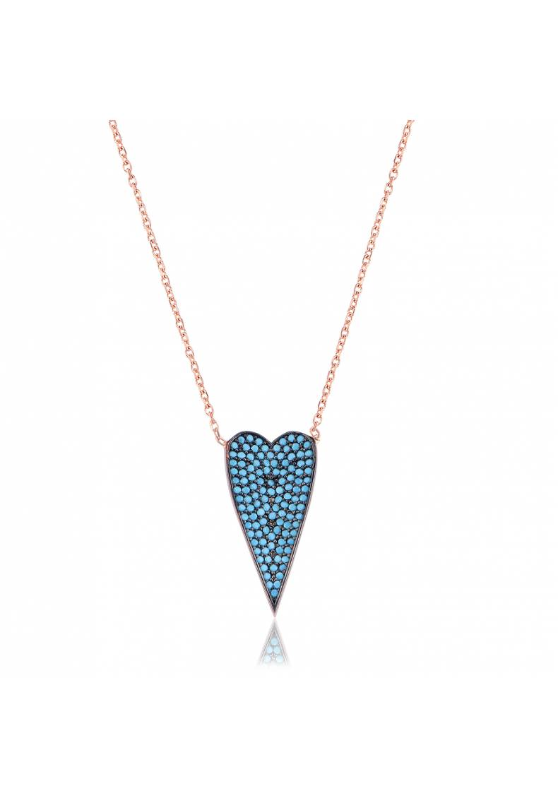 PETITE TURQUOISE HEART NECKLACE