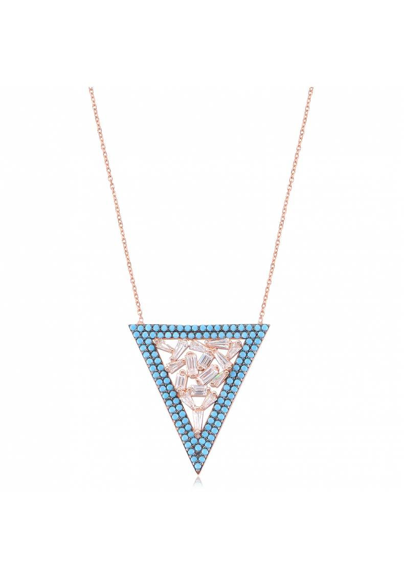 LARGE TRIANGLE BAGUETTE NECKLACE