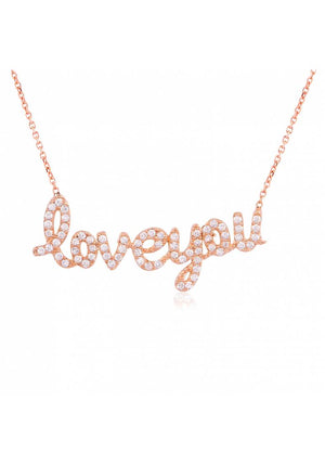 "STERLING SILVER ""LOVE YOU"" NECKLACE"
