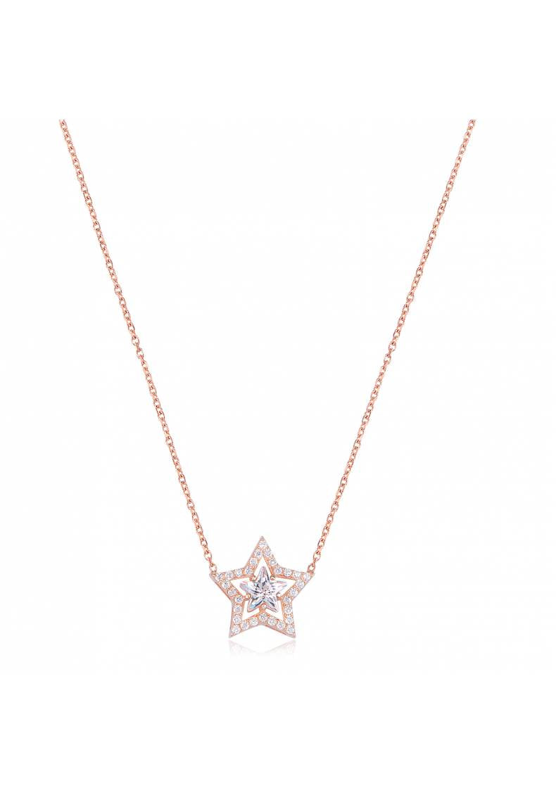 STONE PAVE STAR NECKLACE