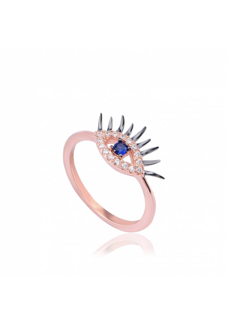 EYELASHES EVIL EYE RING