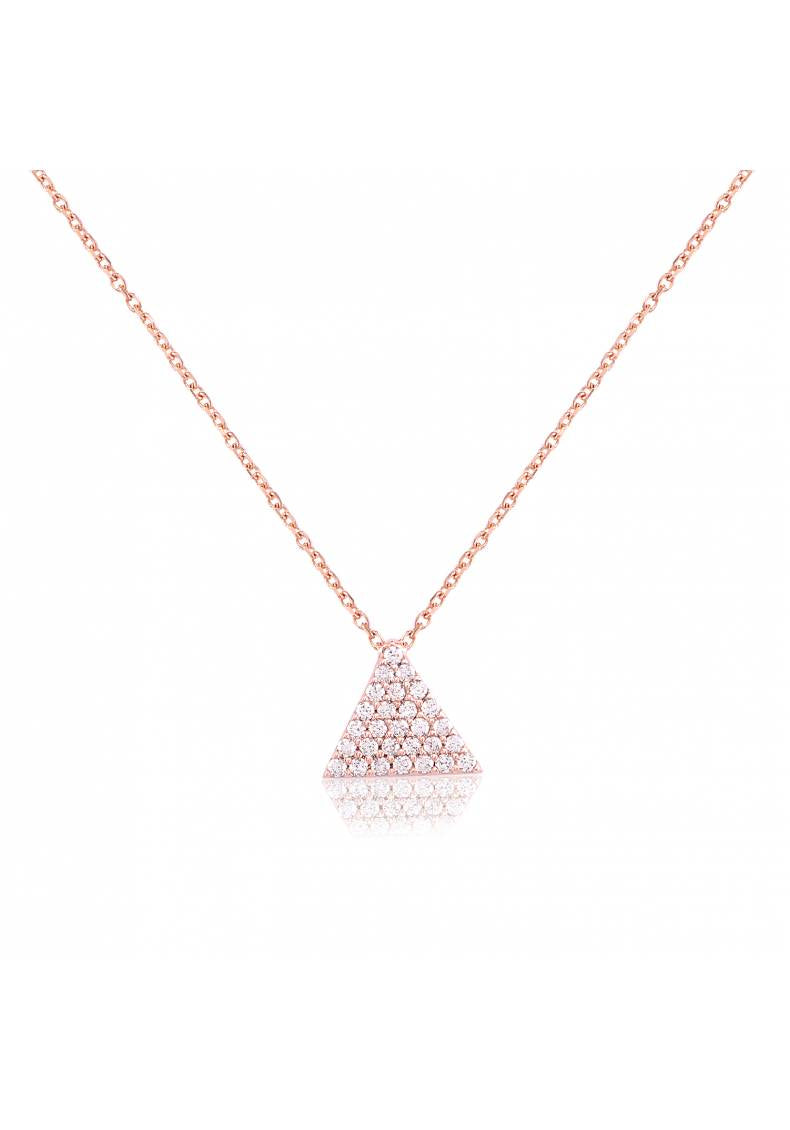 WHITE STONE PYRAMID NECKLACE