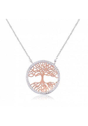 TREE OF LIFE ROUND PAVE NECKLACE