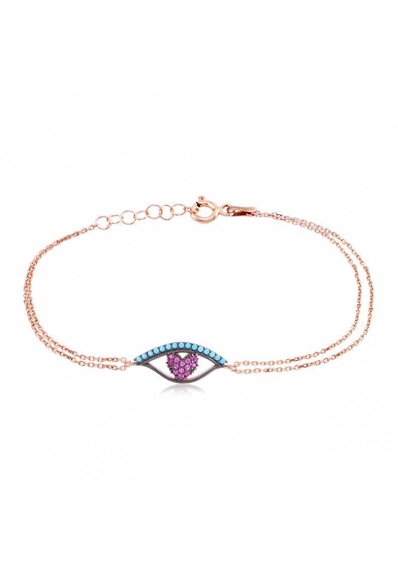 COLORFUL EYE HEART BRACELET