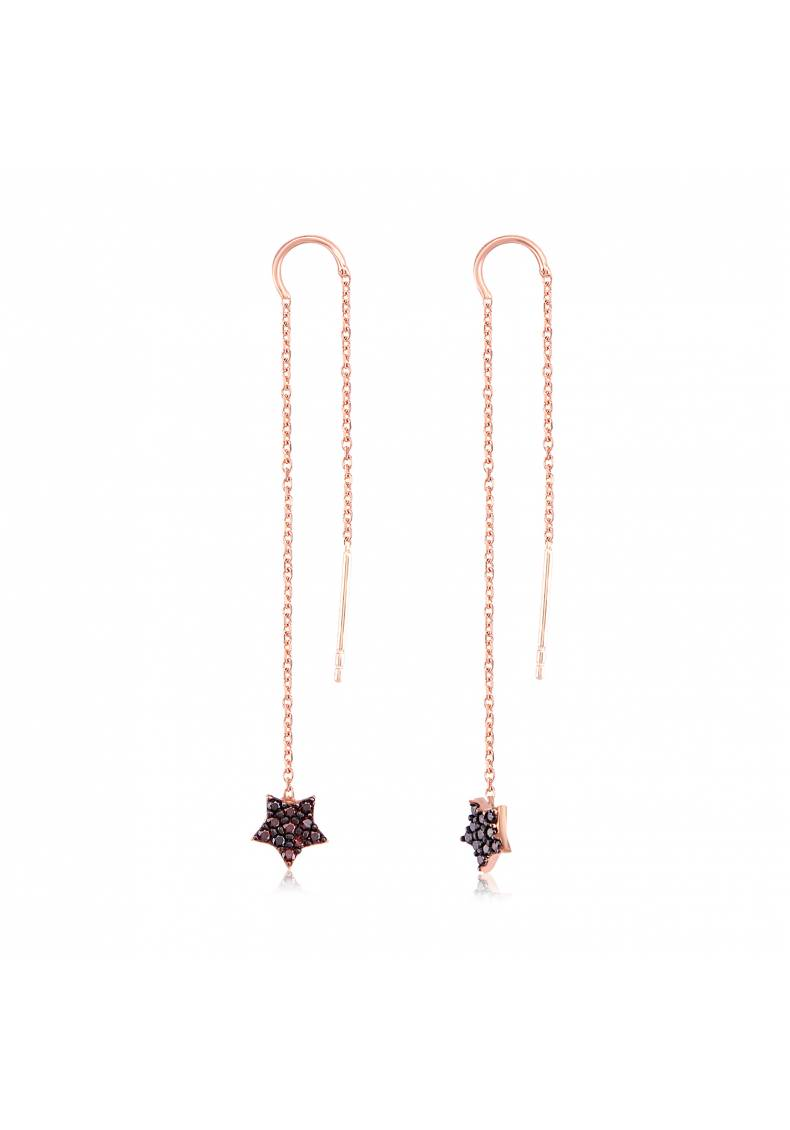 BLACK STAR DROP EARRINGS