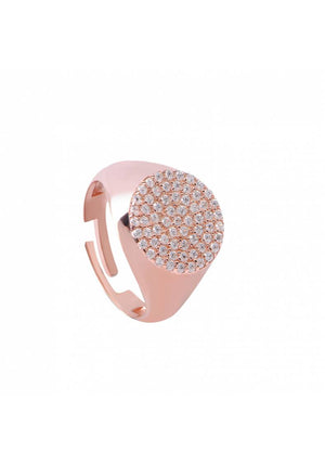 ROUND PAVE ADJUSTABLE RING