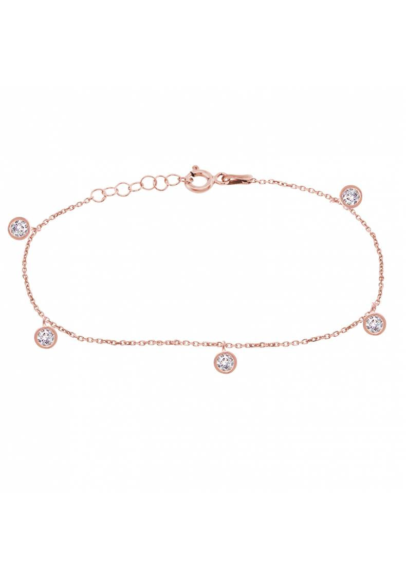DROP STONE ANKLET