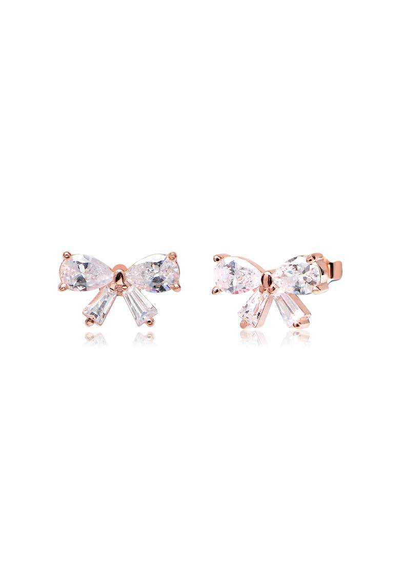DAINTY BOW CZ EARRINGS
