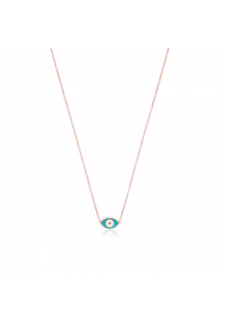 SMALL TURQUOISE EYE NECKLACE