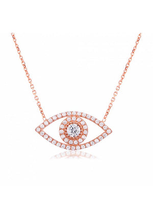 EYE WHITE STONE NECKLACE
