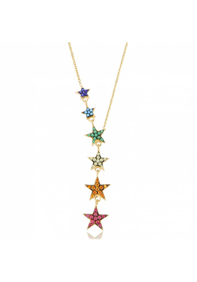 CASCADE RAINBOW STAR NECKLACE