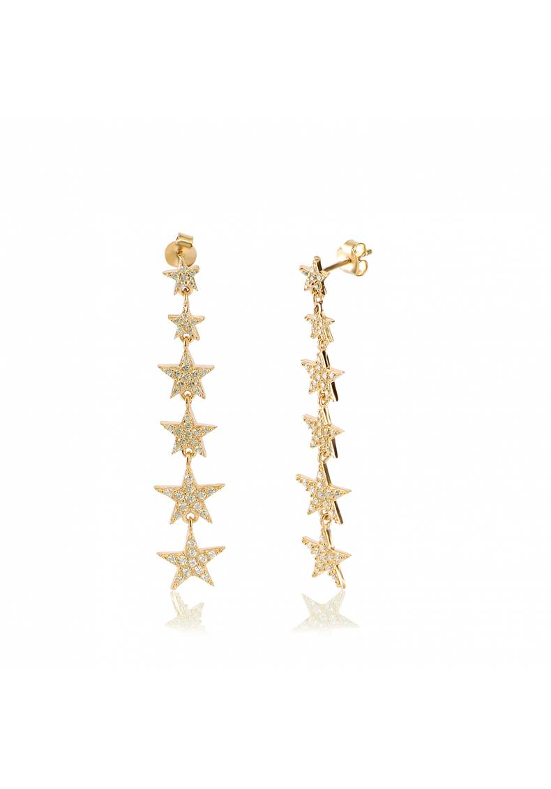 CASCADING STARS LONG EARRINGS