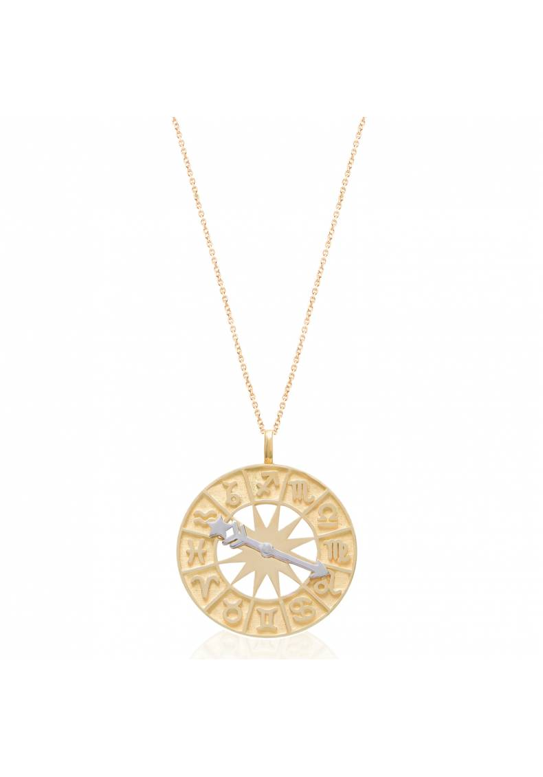 ZODIAC WHEEL PENDANT NECKLACE