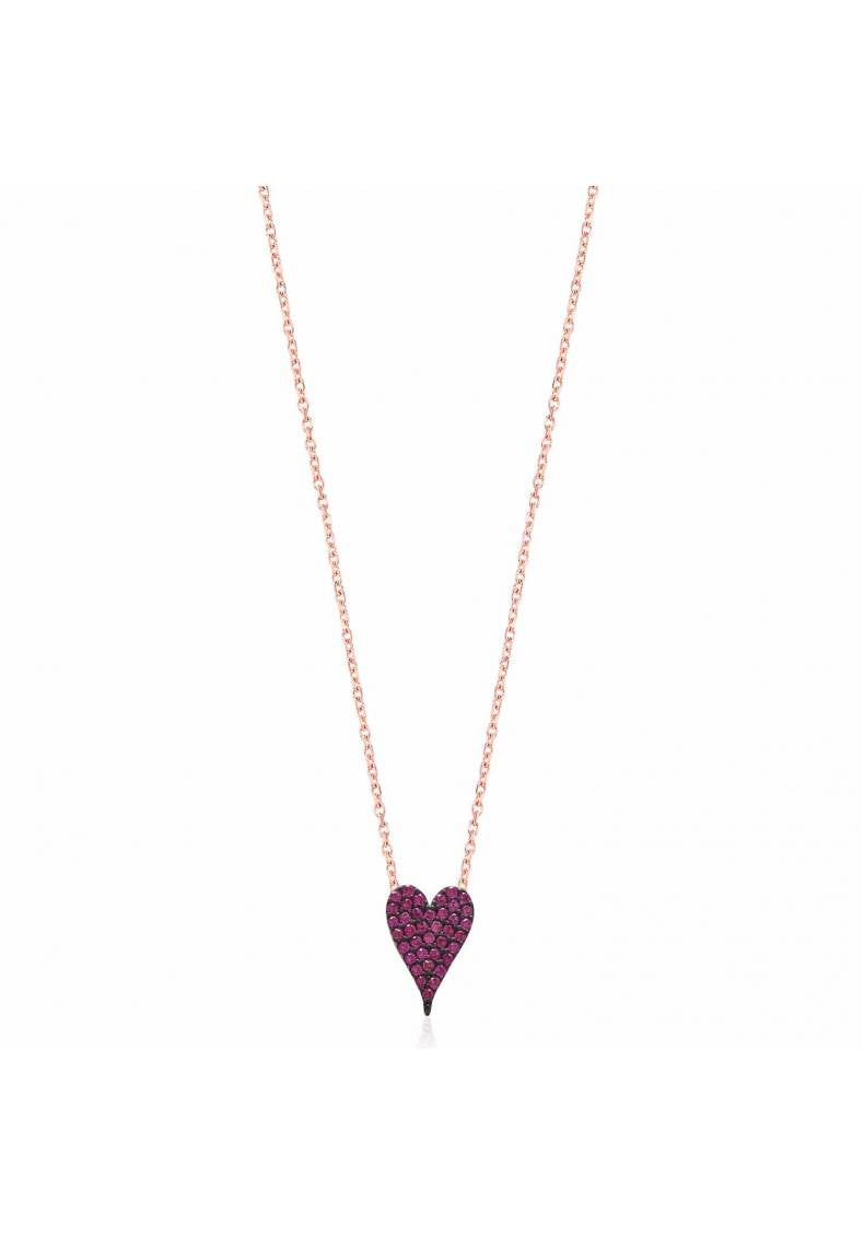 SMALL PINK HEART NECKLACE