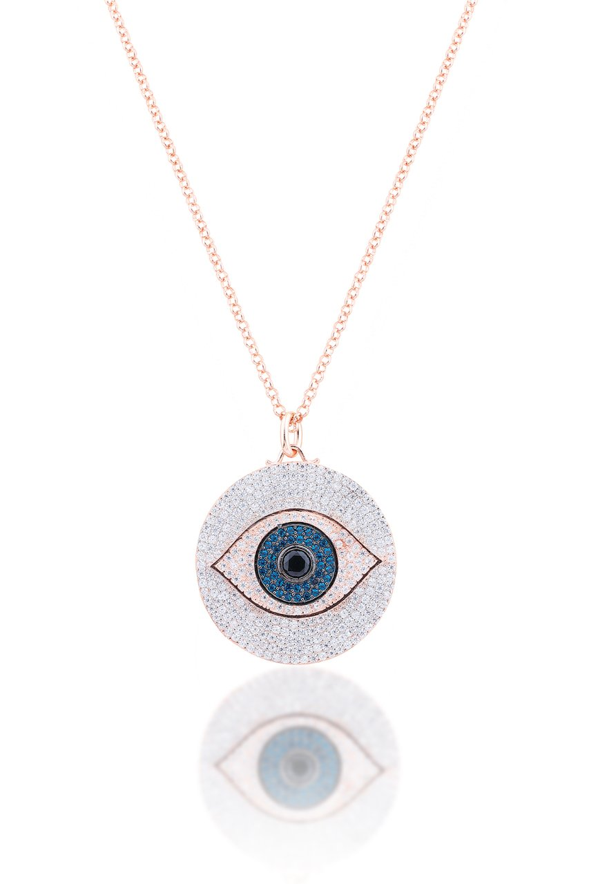 ROUND EYE PENDANT NECKLACE