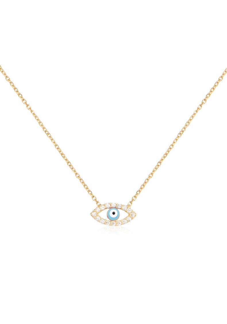 SMALL STERLING SILVER EYE NECKLACE