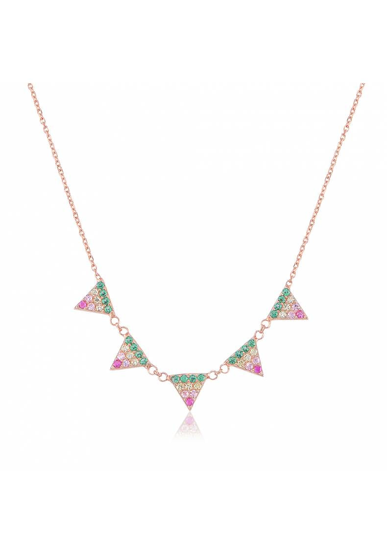 RAINBOW PYRAMID NECKLACE