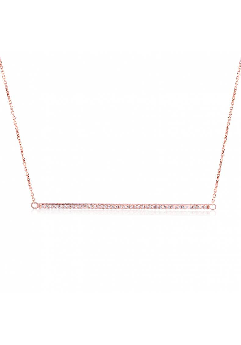 LONG PAVE BAR NECKLACE