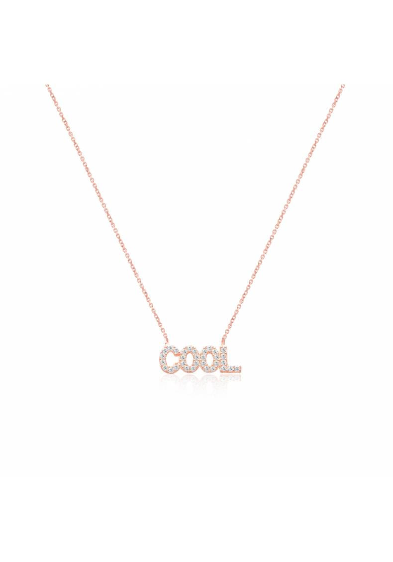 """COOL"" CZ STERLING SILVER NECKLACE"