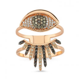 STONED EYE LASH RING