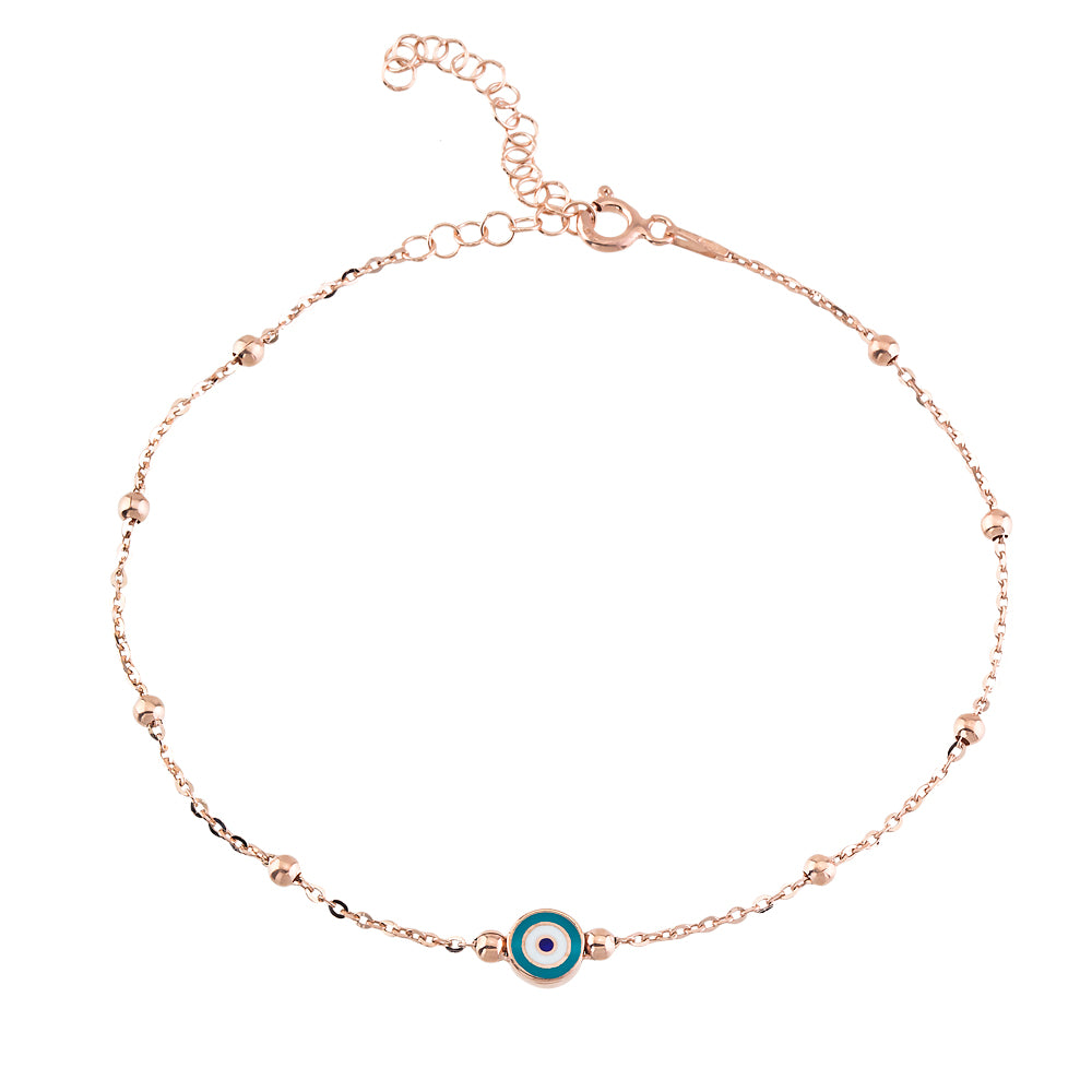 ENAMEL EYE BEADED ANKLET