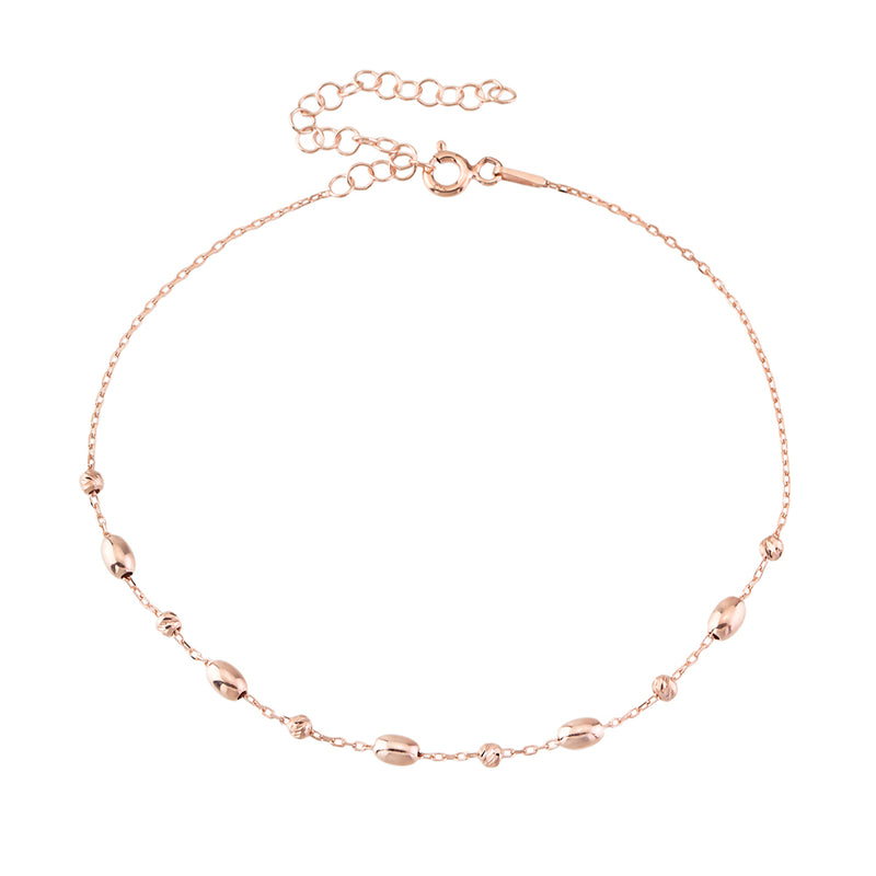 ROW BALL CYLINDER BEADED ANKLET