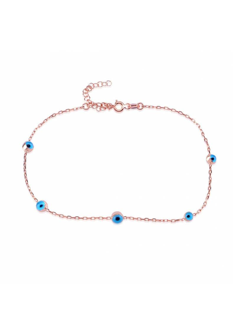 EVIL EYE BEADED ANKLET