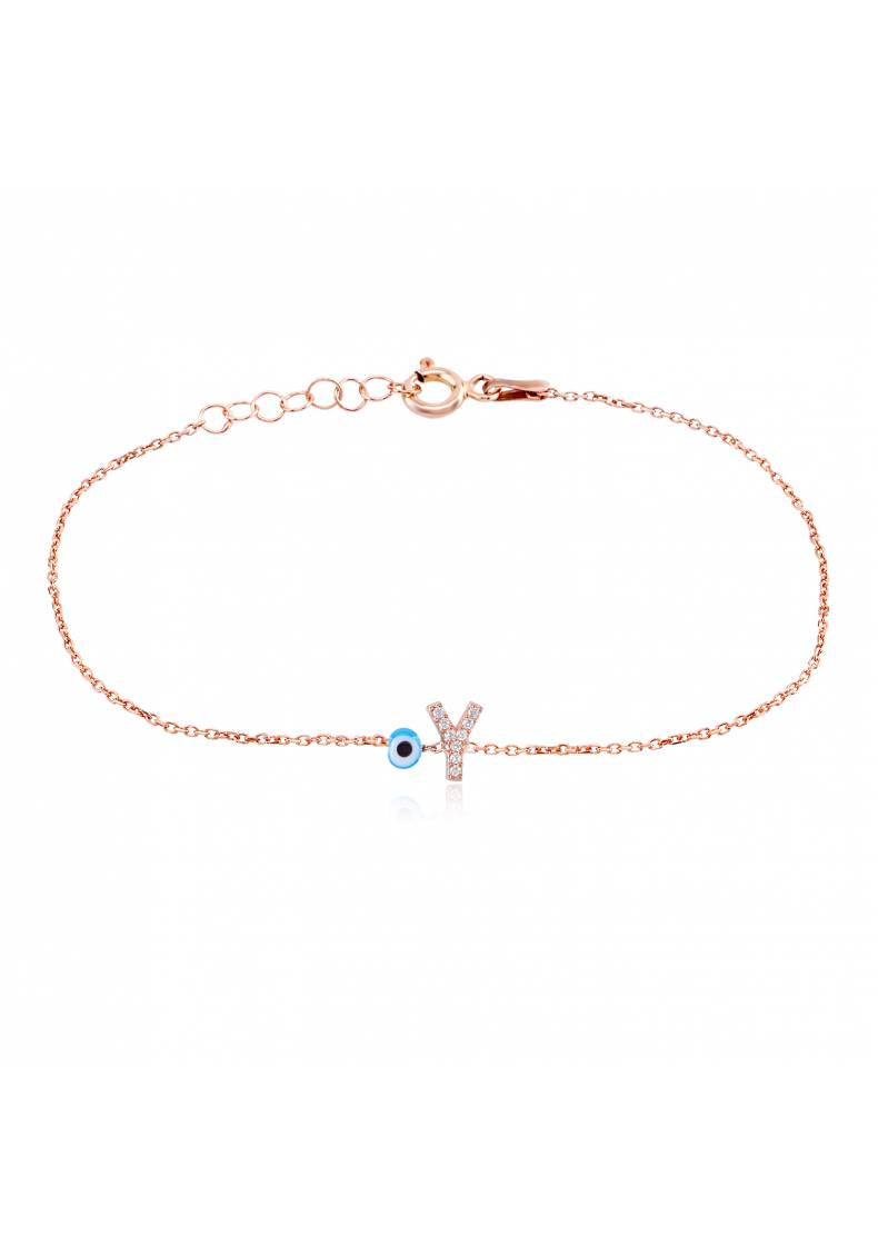 PERSONALIZED INITIAL EYE ANKLET