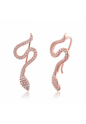 PAVE SNAKE EARRINGS