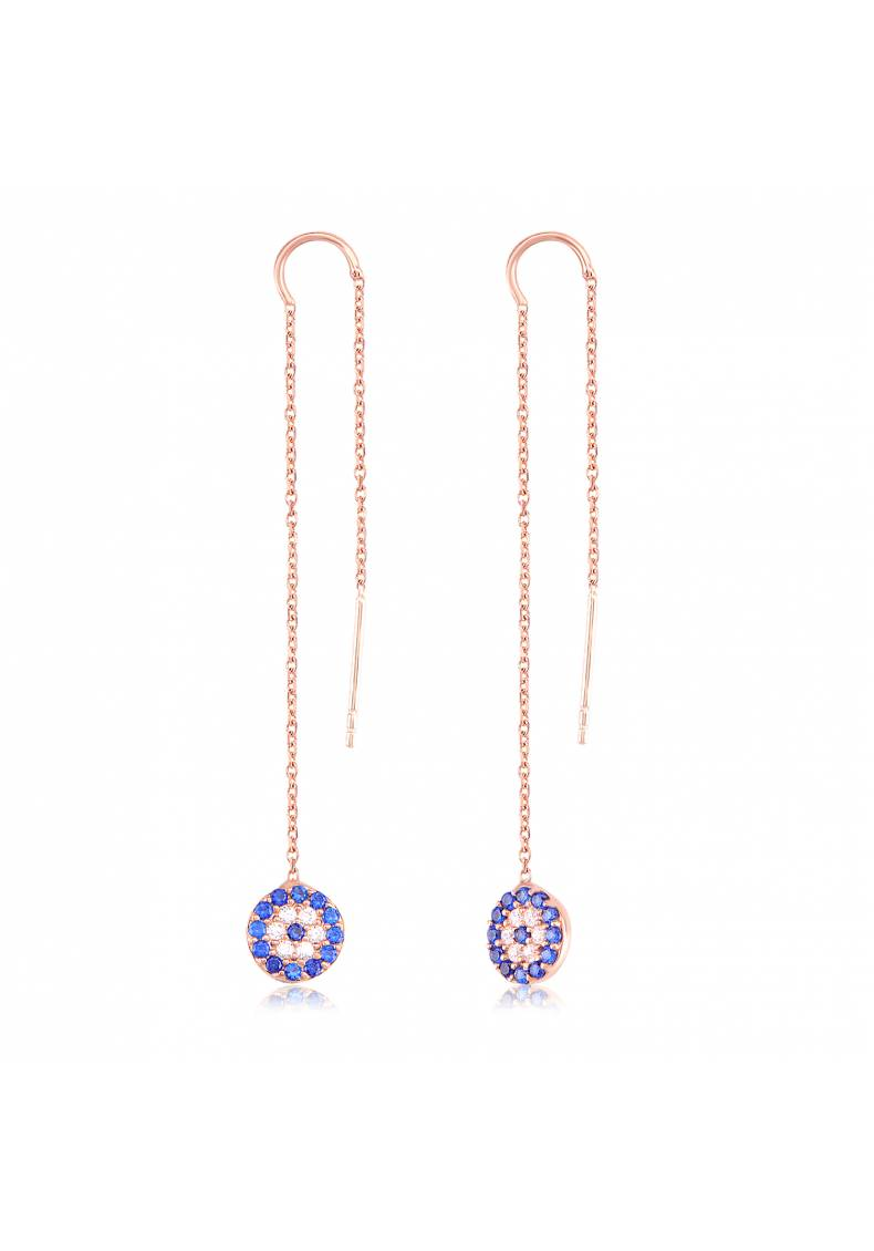NAZAR CZ DROP EARRINGS