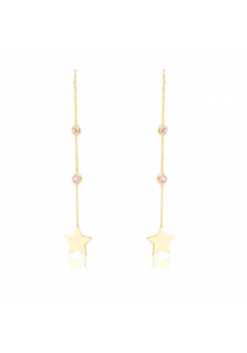 STAR STONE DROP EARRINGS
