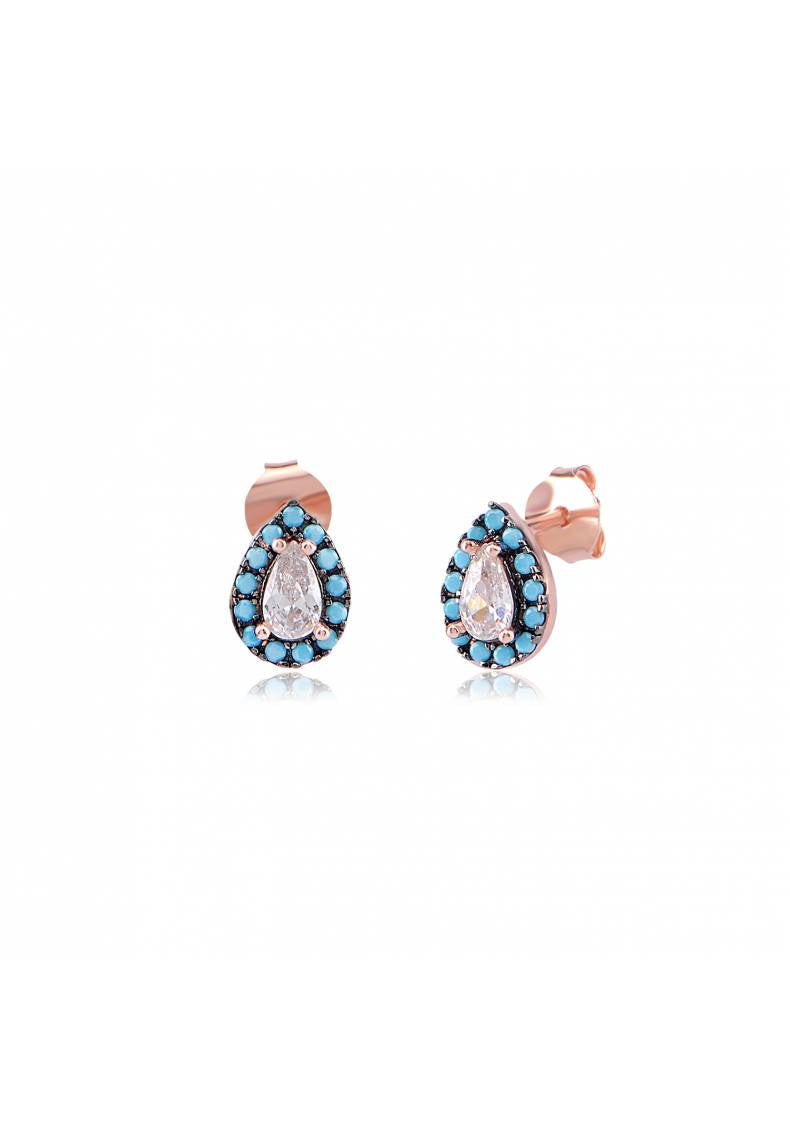 PEAR SHAPE TURQUOISE STUDS